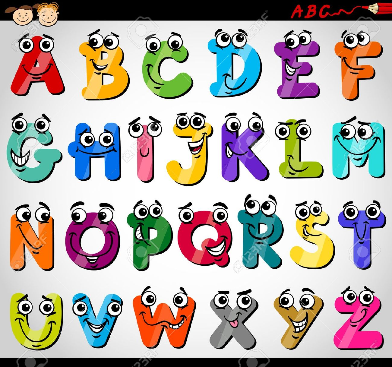Neat joined handwriting alphabet for kids